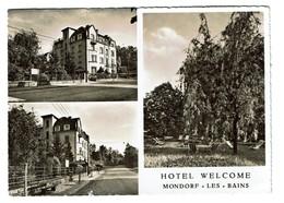 Carte Multi-vues - Hôtel Pension Welcome - Propr. Edy Kapgen - Mondorf-les-Bains - Circulée - 2 Scans - Mondorf-les-Bains