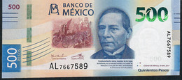 MEXICO NLP 500 PESOS 19.5.2017 Issued 2018  #AD     UNC. - Mexico