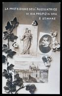 TORINO - 1917 - CHIESA DI MARIA AUSILIATRICE CON IMMAGINE DELLA MADONNA E SAN GIOVANNI BOSCO. LUCIDA - Vergine Maria E Madonne