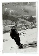 Carte Photo - Skieurs - Tire-fesses - Foto Bechter Engelberg - 2 Scans - OW Obwald