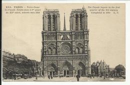 PARIS , 4 ème , Notre Dame De Paris , La Façade édifiée Le 1er Quart Du XII Siècle , Achevée Vers 1240 - Notre Dame De Paris