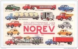 BUVARD NOREV MICRO MINIATURES VOITURES RENAULT 4CV PEUGEOT CITROEN DS 2 CV  CAMION TRANSPORT UNIC TUBE CITROEN HY...TBE - Automotive