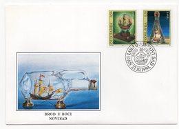 YUGOSLAVIA, FDC, 27.10.1994, COMMEMORATIVE ISSUE: SHIP IN A BOTTLE, NOVI SAD - 1992-2003 Federal Republic Of Yugoslavia