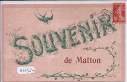 MATTON- SOUVENIR DE MATTON- RARE CARTE FANTAISIE - France