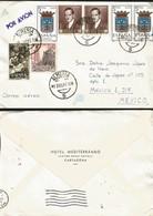 J) 1965 SPAIN, PORTRAIT OF ROMERO DE TORRES, CATHEDRAL SEVILLA, BIRTH ZURBARAN, MULTIPLE STAMPS, AIRMAIL, CIRCULATED COV - 1961-70 Lettres