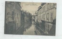 Soissons (02) : La Rue Du Plat-d'Etain Lors Des Inondations Prise Au Niveau Du Magasin Etablissement économiq En 1910 PF - Soissons