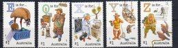 AUSTRALIA, 2018, MNH, LETTERS OF ALPHABET, (E,O,X,Y,Z), BIRDS, BOATS, CURSTACEANS, MARINE LIFE, X-RAYS,5v - Languages