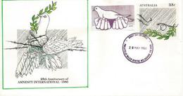 Amnesty International Anniversary Australia., Postal Stationery / Entier Postal Australie - Refugees