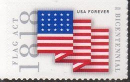 USA, 2018, MNH, FLAGS, FLAG ACT OF 1818,1v - Stamps