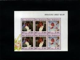 NEW ZEALAND - 1989  HEALTH  MS  MINT NH - Blocchi & Foglietti