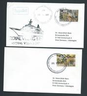 Bahamas 1989 Paquebot Covers (2) To Germany Ship Royal Viking Sun - Bahamas (1973-...)