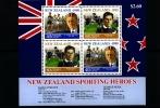 NEW ZEALAND - 1990  HEALTH  SPORTING HEROES  MS   MINT NH - Nuova Zelanda