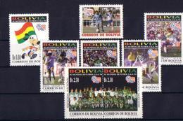 Soccer World Cup 1994 - Football - BOLIVIA - Set MNH - Fußball-Weltmeisterschaft