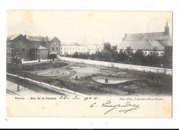 Wavre  ( M 3017 )  Rue  De La Station  & Vue Sur L'Eglise , - Waver