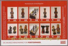Privatpost -PostModern- Mexikanisches Schachspiel , Chess - Figuren - Kleinbogen 10 Marken - Schach