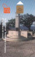 ST. EUSTATIUS(chip) - Wilhelmina Monument, Eutel Telecard 60 Units, Chip GEM1.2, Tirage 7000, 11/98, Used - Antilles (Netherlands)