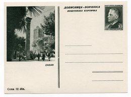 YUGOSLAVIA, CROATIA, ZADAR, ZARA, TITO, POSTAL STATIONERY, NOT USED - Croatia