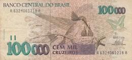 BANCO CENTRAL DO BRASIL  CEM MIL CRUZEIROS BEIJA FLOR DEUS SEJA LOUVADO CATARATAS DO IGUAÇU - BLEUP - Brésil