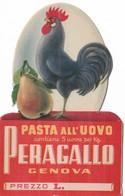 PUBBLICITA' PASTA ALL'UOVO PERAGALLO GENOVA  (CONTIENE 5 UOVAPER KG.)-2SCANNER-2-28899-900 - Pubblicitari