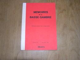 LES MEMOIRES DE LA BASSE SAMBRE N° 2 Régionalisme Velaine Bataille De La Sambre Guerre 14 18 Auvelais Tamines Falisolle - Cultuur