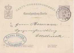 C Entier Pour L'intérieur 5c Gris (Type Armoiries) Obl. Luxembourg Le 3/5/78 Pour Ettelbruck - 1859-1880 Coat Of Arms