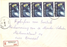 Belgique 1982 - Lettre Recommandée De Loenhout  - Province D'Anvers  - COB 2037 X 4 - Belgium