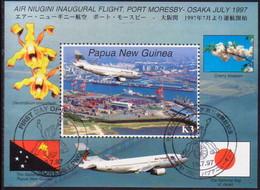PAPUA NEW GUINEA 1997 SG #820 M/s Used Air Niugini - Papua New Guinea