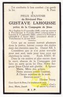 DP EH Filosoof Theoloog Gustave LaHousse ° Izegem 1846 † Abdij Drongen Gent 1928 / Docent Te Leuven - Devotieprenten