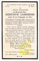 DP EH Filosoof Theoloog Gustave LaHousse ° Izegem 1846 † Abdij Drongen Gent 1928 / Docent Te Leuven - Images Religieuses