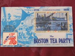 USA 1973 FDC Cover Boston - American Bicentennial - Boston Tea Party - Ships - Etats-Unis