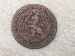 1883 Netherlands Nederland 2.5 Cents Coin - Scarce Date, Some Wear. - [ 3] 1815-… : Kingdom Of The Netherlands