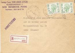 Belgique 1982 - Lettre Recommandée De Ruisbroek - Province De   - COB - Belgique