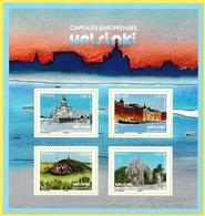 Bloc Feuillet Neuf** De 4 Timbres-poste Gommés - Capitales Européennes Helsinki - France 2019 - Neufs