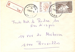 Belgique 1982 - Lettre Recommandée De Lillois - Province Du Brabant Wallon  - COB 879/1962 - Belgium