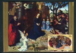 Penrhyn - Carte Maximum 1977 - Oeuvre De Van Der Goes - La Nativité - Penrhyn