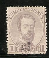 España Edifil 120 (º)  10 Céntimos Violeta  Corona,Cifras Y Amadeo I  1872 NL071 - Nuevos