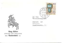 """Motiv Brief  """"Alber, Atelier Für Heraldik, Balterswil""""          1979 - Storia Postale"""