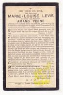 DP Marie L. Levis ° Veurne 1841 † Brugge 1910 X Amand Peene - Devotieprenten