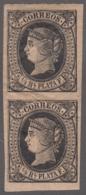 1864-84 CUBA SPAIN ANTILLES. 1864. ISABEL II. Ed.12. 1/4r NEGRO MNH GOMA ORIGINAL. - Préphilatélie