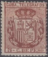 1894-88 CUBA SPAIN ANTILLES. 1894. ALFONSO XIII. Ed.77. 5c TELEGRAFOS TELEGRAPH MNH. - Préphilatélie