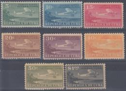 1930-83 CUBA REPUBLICA. 1930. 5c. Ed.255-62. CORREO AEREO INTERNACIONAL, AVION AIRPLANE. MH. - Cuba