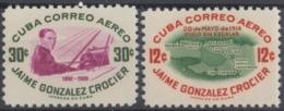 1955-301 CUBA REPUBLICA. 1955. Ed.627-28. MNH. JAIME GONZALEZ CROCIER. FLIGHT AIRPLANE. - Cuba