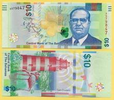 Bahamas10 Dollars P-78 2016 UNC Banknote - Bahamas