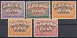 1957-373 CUBA REPUBLICA. 1957. Ed.709-13. MNH. GENERALES DE LA GUERRA DE INDEPENDENCIA. - Cuba
