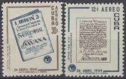 1959.101 CUBA. 1959. Ed.781-82. MNH. LIBRONES, DIA DEL SELLO, STAMPS DAY - Cuba