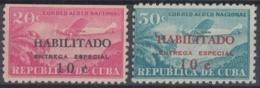 1960.267 CUBA. 1960. Ed.836-37. MNH. CORREO AEREO HABILITADO, SPECIAL DELIVERY, ENTREGA ESPECIAL - Cuba