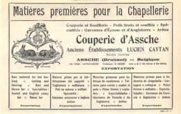1927 - ASSCHE - Couperie D'Assche - Lucien CAYTAN - Dim. 1/2 A4 - Publicités