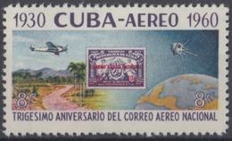 1960.268 CUBA. 1960. Ed.835. MNH. 30 ANIV CORREO AEREO NACIONAL, AVION, AIRPLANE. - Cuba