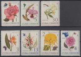 1965.126 CUBA. 1965. Ed.1203-09. MNH. FLORES, FLOWERS - Cuba