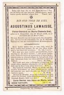 DP Augustinus Lawaisse / Bral ° Ruiselede 1826 † 1901 - Images Religieuses